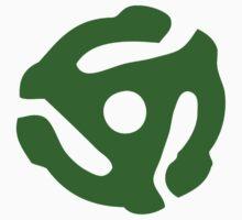 Green 45 Vinyl Record Symbol by retrorebirth