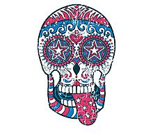 Psychedelic Sugar Skull Photographic Print