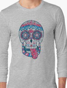 Psychedelic Sugar Skull Long Sleeve T-Shirt