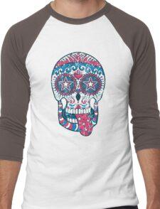 Psychedelic Sugar Skull Men's Baseball ¾ T-Shirt