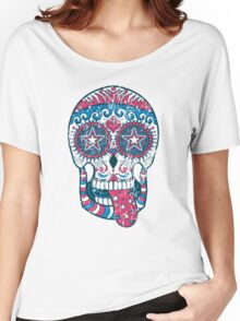 Psychedelic Sugar Skull Women's Relaxed Fit T-Shirt