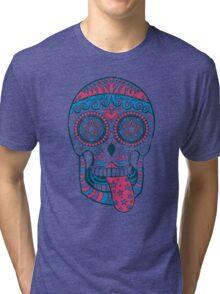 Psychedelic Sugar Skull Tri-blend T-Shirt