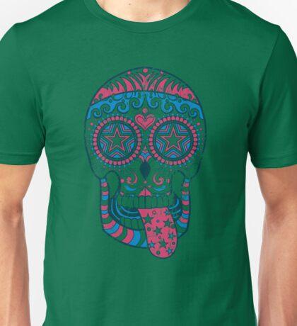 Psychedelic Sugar Skull Unisex T-Shirt