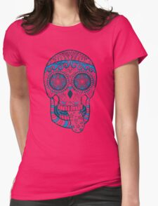 Psychedelic Sugar Skull Womens Fitted T-Shirt