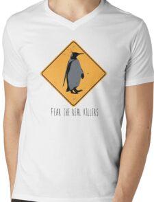 Fear the Real Killers - Penguin Mens V-Neck T-Shirt
