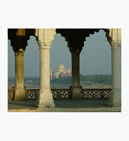 The Taj Mahal from across the river Photographic Print