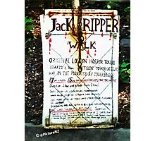 Jack the Ripper Walk Photographic Print