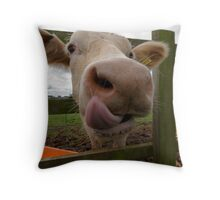 I can get it all the way up my nose Throw Pillow