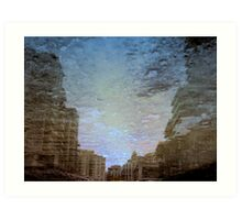 Reflection in (Construction job site)... Art Print