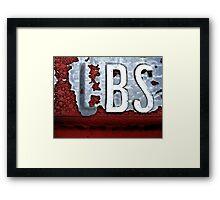 BS Framed Print