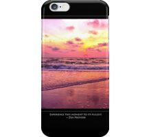 Inspirational Sunset With Zen Proverb iPhone Case/Skin