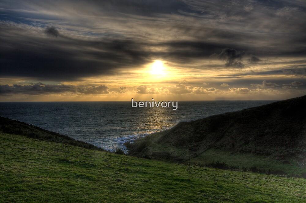 South Devon Sunset by benivory