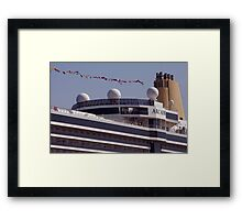 The Cruise Ship, Arcadia Framed Print