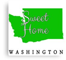 Washington Sweet Home Washington Canvas Print