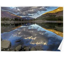 Calm Waters -- HDR of Tioga Lake Poster