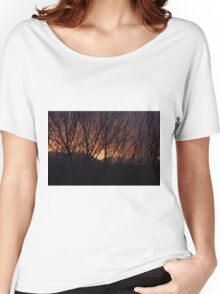Sunset Through the Brush Women's Relaxed Fit T-Shirt
