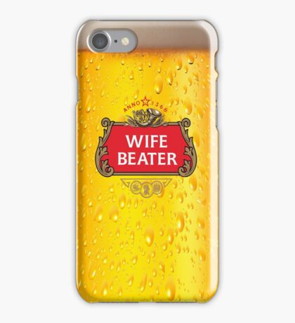 Wife Beater - Pint iPhone Case/Skin