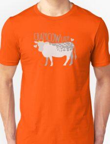 Crazy cow lady Unisex T-Shirt