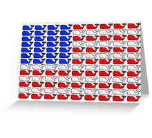 Vineyard Vines American Flag Greeting Card