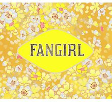 FANGIRL - FLORAL YELLOW Photographic Print