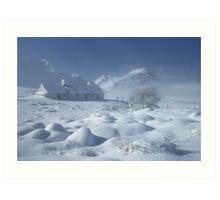 Blackrock Cottage, Glen Coe, Highland Scotland. Art Print