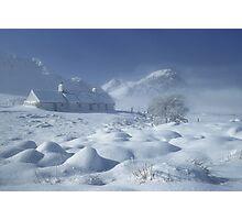 Blackrock Cottage, Glen Coe, Highland Scotland. Photographic Print