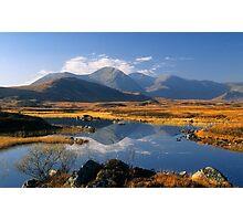 The Blackmount, Rannoch Moor, Highlands of Scotland. Photographic Print