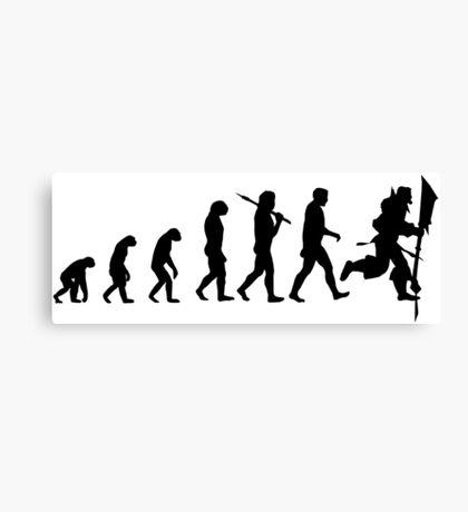 Evolution of Leeroy Canvas Print
