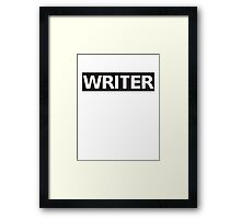 Castle's WRITER jacket! (Shirt) Framed Print