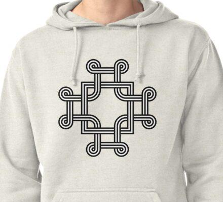 Macedonian cross Pullover Hoodie