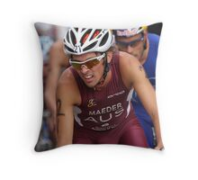 Joshua Maeder leads into corner Throw Pillow