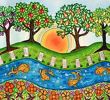 """""""Sunrise At The Orchard""""  by Lisa Frances Judd~QuirkyHappyArt"""