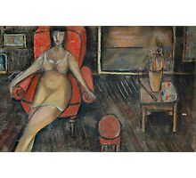 Woman in the arm-chair Photographic Print