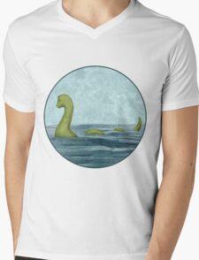 Sea Monster Mens V-Neck T-Shirt
