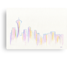 Remember Seattle Canvas Print