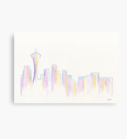 Remember Seattle Canvas Print