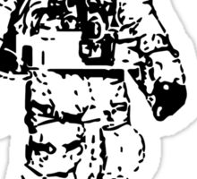 Minimalist Space Suit Sticker
