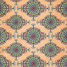 Vintage Moroccan Pattern in Peach by Heaven7