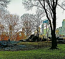 CENTRAL PARK IN THE FALL by KENDALL EUTEMEY