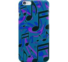 Music Notes Lively Expressive Blue Green iPhone Case/Skin