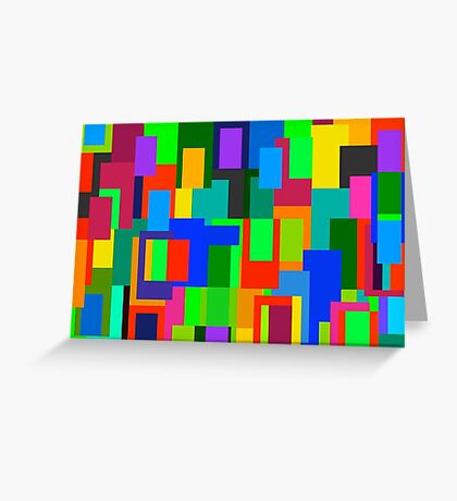 Canvas Colour Geometry Greeting Card