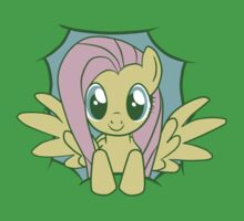Peeky Fluttershy One Piece - Short Sleeve