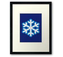 Snow snowflake Framed Print
