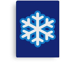 Snow snowflake Canvas Print