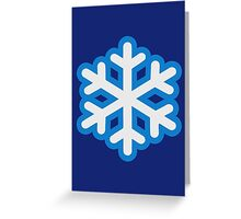 Snow snowflake Greeting Card