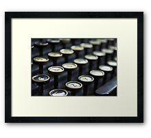 VINTAGE TYPE Framed Print