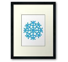 Blue ice snow Framed Print