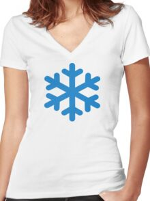 Blue snow Women's Fitted V-Neck T-Shirt