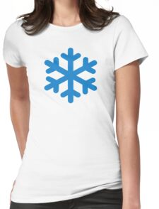 Blue snow Womens Fitted T-Shirt