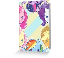 MLP - Mane 6 Large Greeting Card